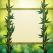 Glowing bamboo background, vector illustration — Stock Vector