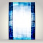 Business brochure template, abstract technology design — Stock Vector