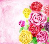 Kwiat malowane tła, ilustracji wektorowych — Wektor stockowy