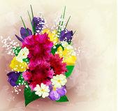 Окрашенный цветочный фон, векторные иллюстрации — Cтоковый вектор