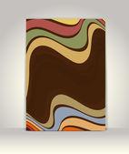 Plantilla folleto o catálogo, diseño retro abstracto — Vector de stock