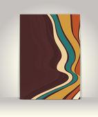 Flyer of brochure sjabloon, abstracte retro ontwerp — Stockvector