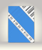 El ilanı ya da broşür şablonu, soyut tasarım — Stok Vektör