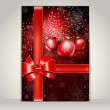 Greeting template, Merry Christmas and Happy New Year — Image vectorielle