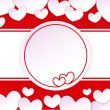 Paper banner with two hearts on the background with paper hearts — Stock Vector #38663123