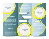 Tri-fold brochure template — Stock Vector
