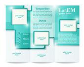 Tri-fold brochure template — Stock Vector