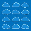 cloud icons — Stock Vector