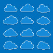 Cloud icons — Vettoriale Stock #12671473