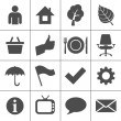 Vector de stock : Web icons set - Simplus series