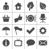 Ensemble d'icônes web - série simplus — Vecteur