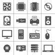 Vector de stock : Computer Hardware Icons