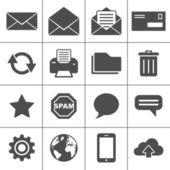 Courrier icônes set - série simplus — Vecteur