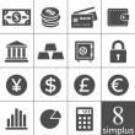 Financal icons set - Simplus series — Stock Vector