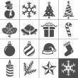 Christmas icons set - Simplus series — ストックベクタ