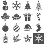 Christmas icons set - Simplus series — Stock Vector