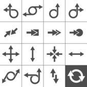 Set di segno di freccia — Vettoriale Stock
