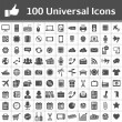 Universal Icon Set. 100 icons — Vettoriale Stock #18980555