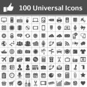 Evrensel simge seti. 100 simgeler — Stok Vektör
