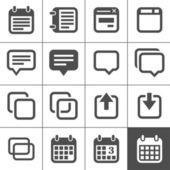 Iconos de notas, notas y planes — Vector de stock