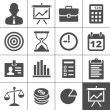 Stock Vector: Business icons set - Simplus series
