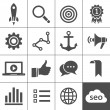 Search engine optimization icon set - Stock Vector