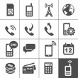 Mobile account management icons — Imagen vectorial