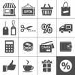 Stock vektor: Shopping icons set - Simplus series
