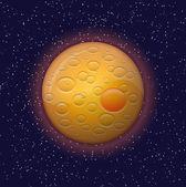 Orange Planet — Stock Vector