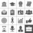 Stock Vector: Business career icons set - Simplus series