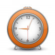 Metallic alarm clock — Stock Vector