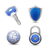 Security and protection symbols — Stock Vector
