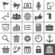 Royalty-Free Stock Vektorgrafik: Universal Icon Set. 25 icons for website and app