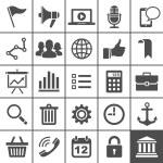 Universal Ikonuppsättning. 25 ikoner för hemsida och app — Stockvektor
