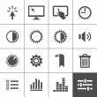 Settings icon set — Imagen vectorial