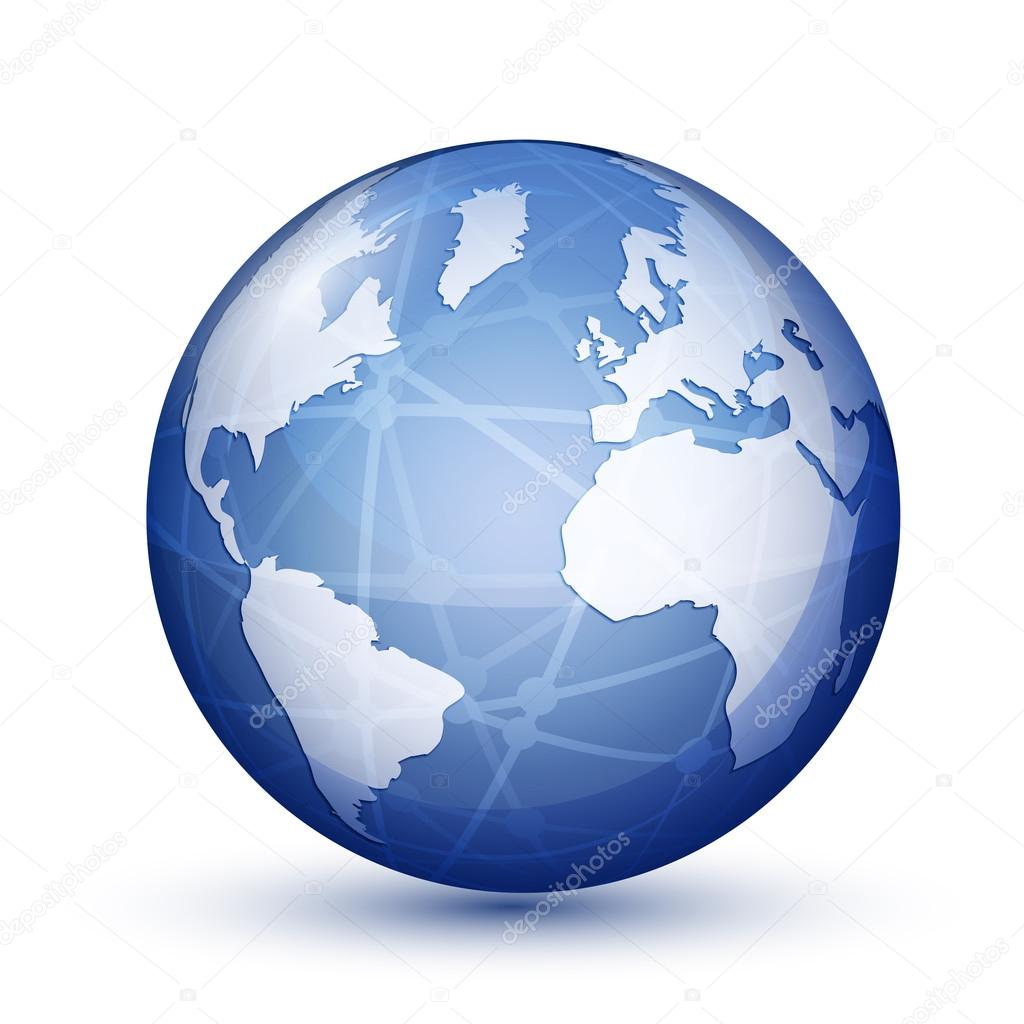 Facebook World Icon Glossy Facebook World Icon