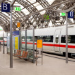 Stock Photo: Passenger train at railway station