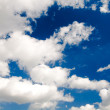 Blue sky and beautiful white clouds — Stock Photo