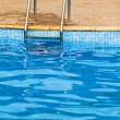 Swimming pool steps — Stock Photo