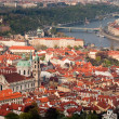 Red roofs of prague — Foto de Stock