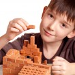 Boy with house — Stock Photo