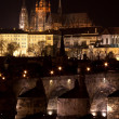 Stock Photo: Prague castle at night - 3