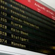 Stock Photo: Electronic board at airport