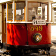 Old tram in Prague — Stock Photo