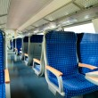 An interior view of a train — Foto Stock