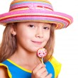 Stock Photo: Girl in straw hat