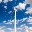 Wind turbine on blue sky — Stok fotoğraf