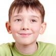A portrait of a cute smiling little boy, isolated on a white background. — Stock Photo #29895497