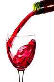 Red wine and wineglass — Stock Photo