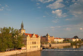 Vltava river. Prague — Stockfoto